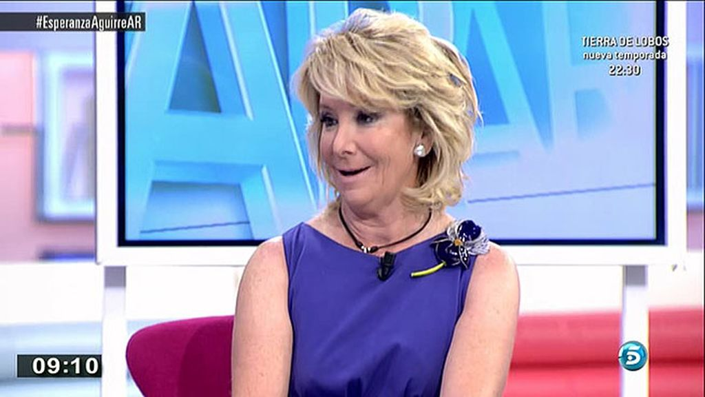 Esperanza Aguirre: ''No está en mis planes presentarme a la alcaldía de Madrid''