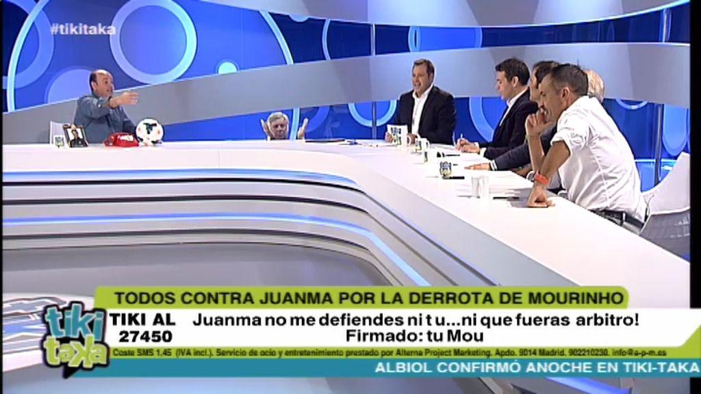 Todos contra Juanma Rodríguez por la derrota de Mourinho