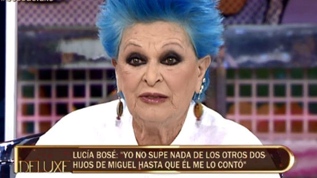 """Lucía Bosé: """"Miguel nos pidió que no contáramos nada de sus otros dos hijos"""""""