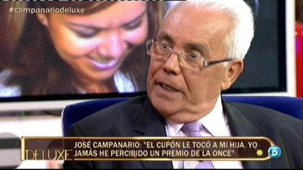 """José Campanario: """"He visto llorar mucho a mi hija por lo que se decía de ella en televisión"""""""