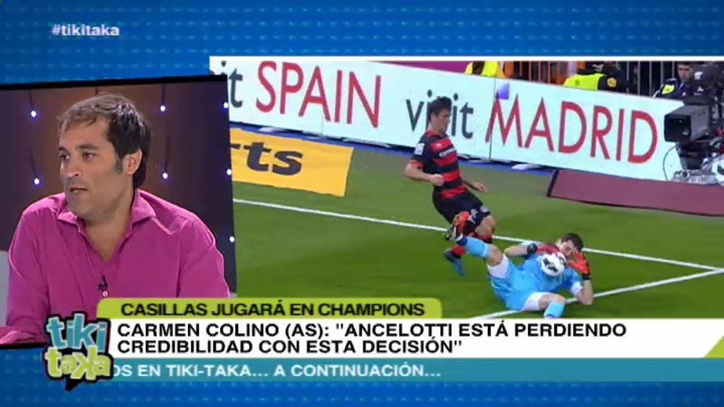"""David Sánchez: """"Si juega Casillas en Champions, Ancelotti es un cobarde"""""""