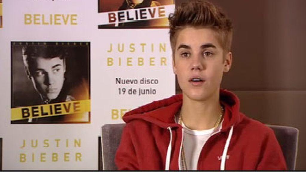 Justin Bieber presenta nuevo disco en España