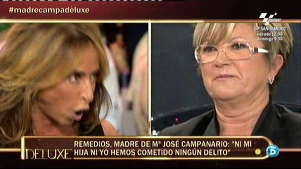 La madre de Mª José Campanario cabrea a María Patiño