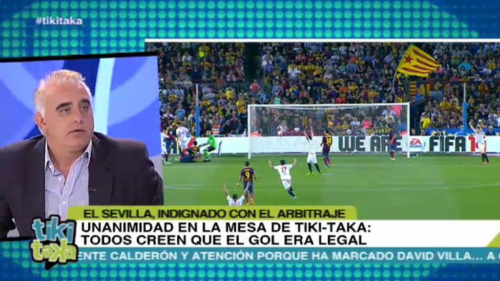 ¿Fue legal el gol anulado al Sevilla?