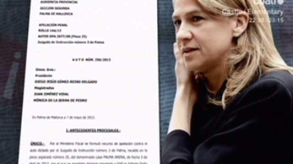 La Audiencia Provincial retira la imputación a la Infanta Cristina