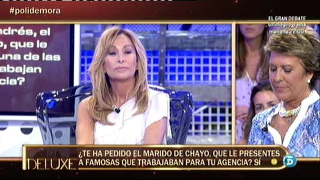 Andrés, marido de Chayo Mohedano, era asiduo a la agencia de María de Mora