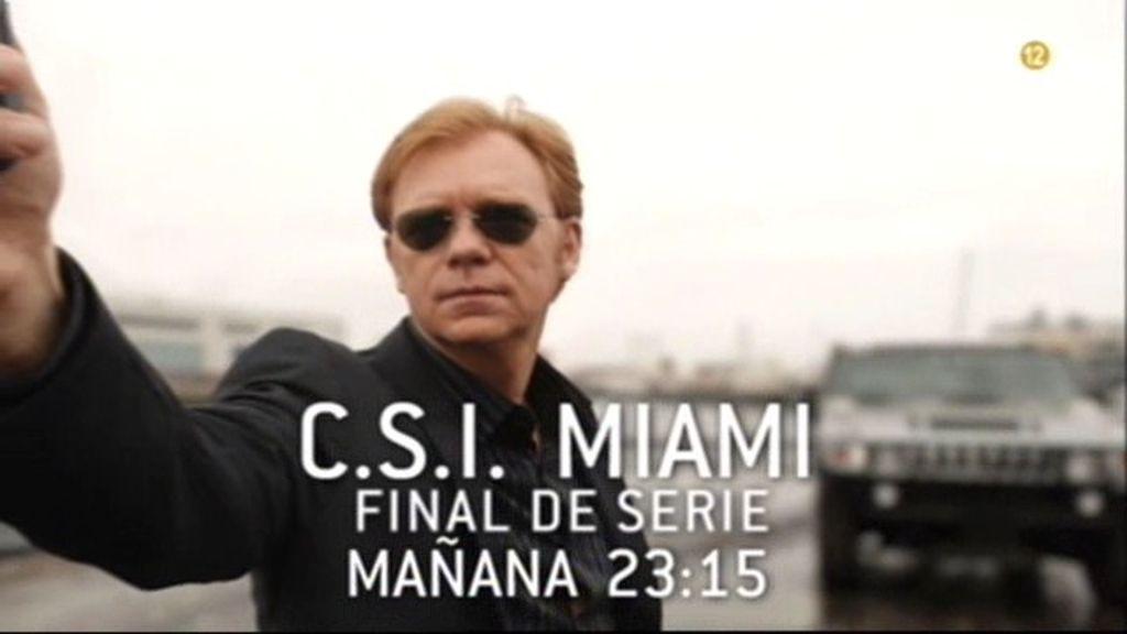 Final de la serie C.S.I. Miami, en Telecinco