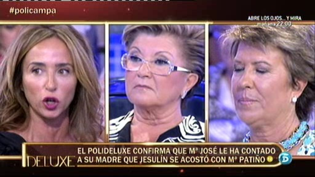 Mª José le contó a su madre que Jesulín se acostó con María Patiño
