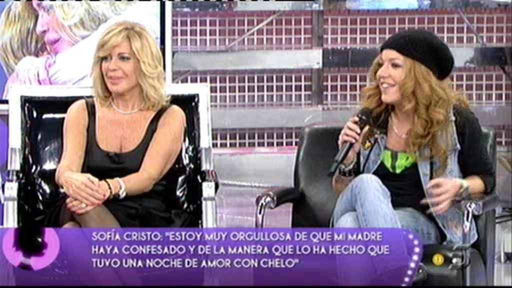 """Sofía: """"Si mi madre hubiera tenido que estar con alguna mujer, quién mejor que Chelo"""""""