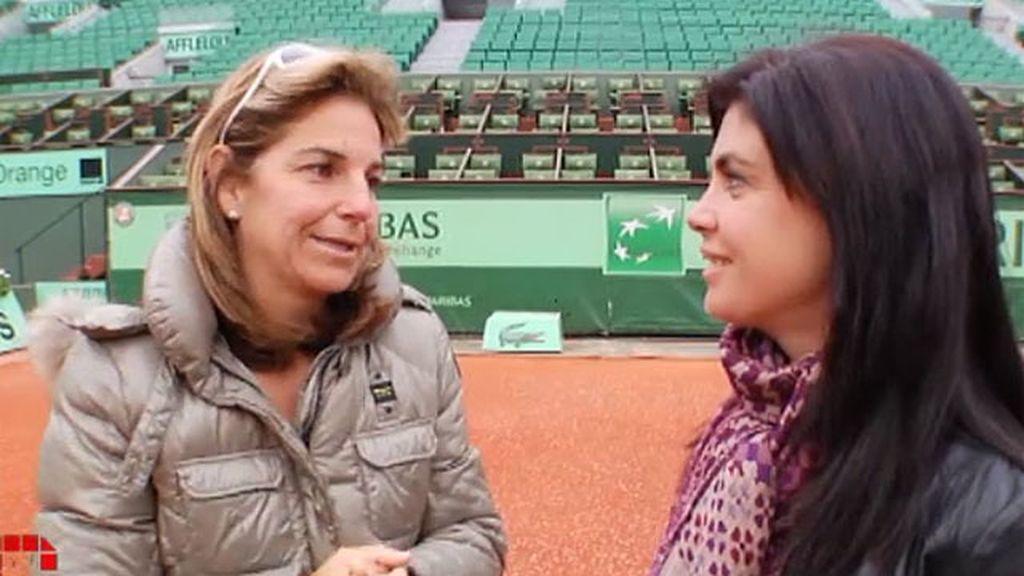 Arantxa ganó a Steffi Graf