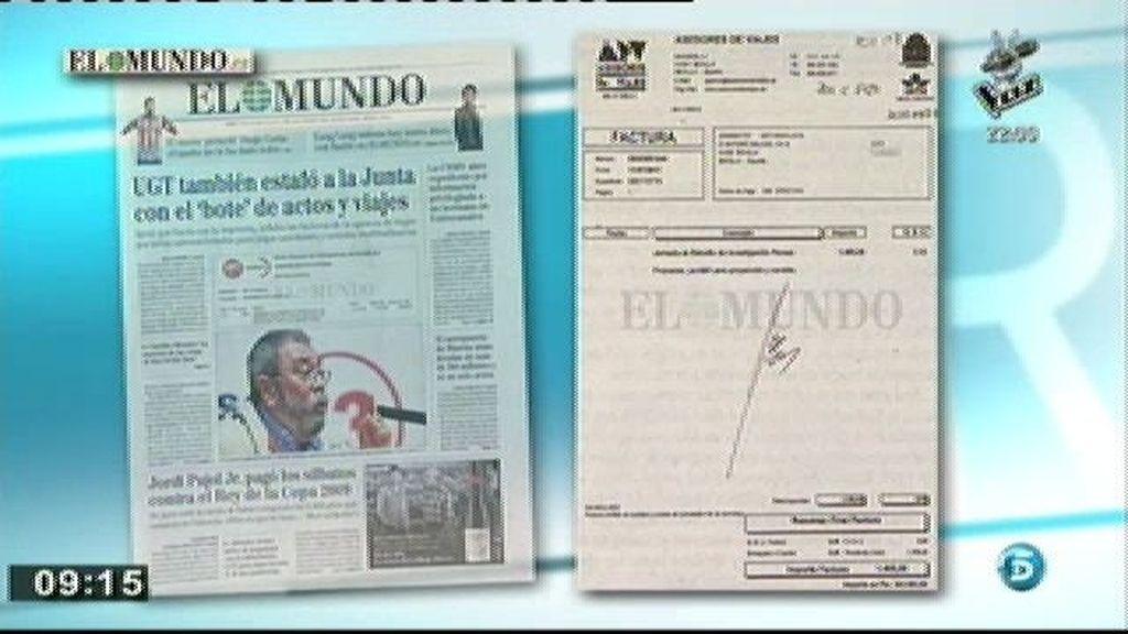 'El Mundo' publica documentos que confirmarían el modus operandi de la estafa de UGT a la Junta