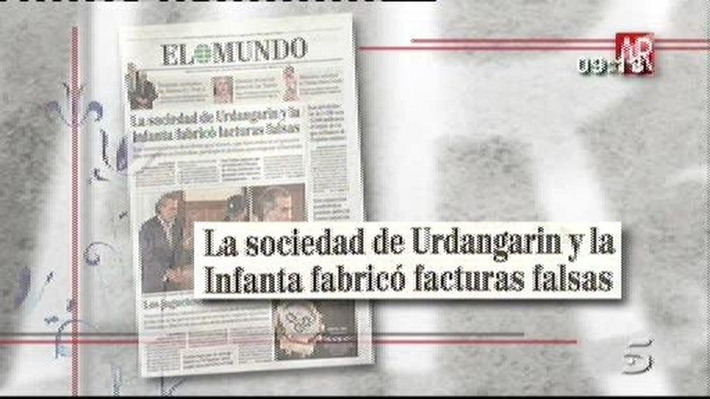 La sociedad de Urdangarín y la Infanta fabricó facturas falsas