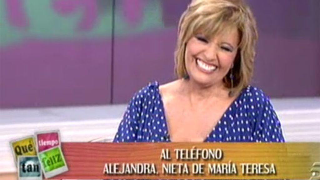 María Teresa, sorprendida