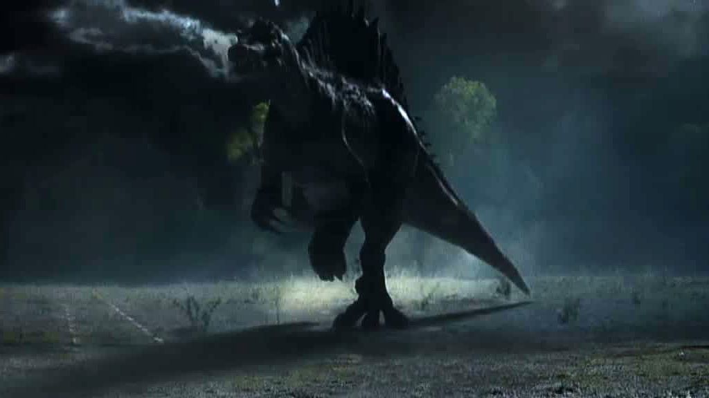 Los sextos llevan un espinosaurio a Terra Nova