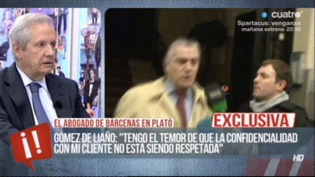 """Gómez de Liaño: """"Algunos miembros del PP si han hecho de Bárcenas un preso político"""""""