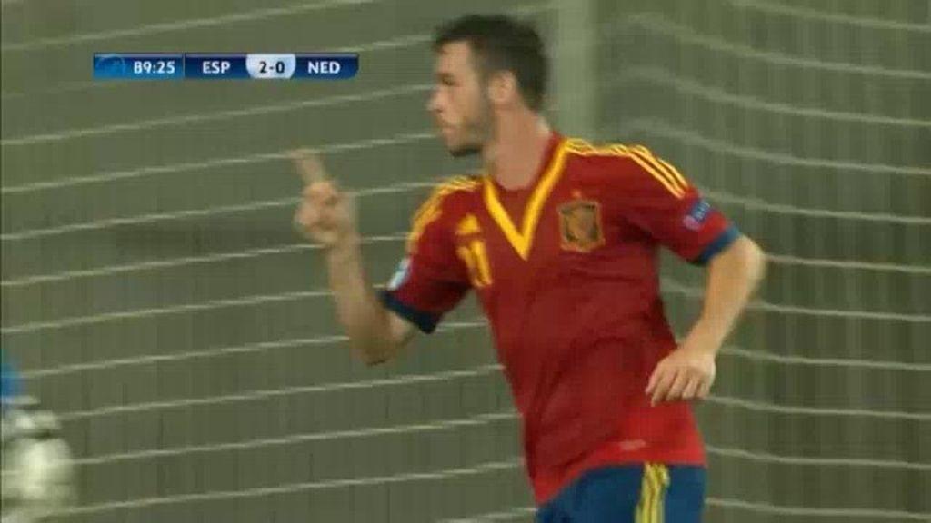 Gol: España 3-0 Holanda (min.91)