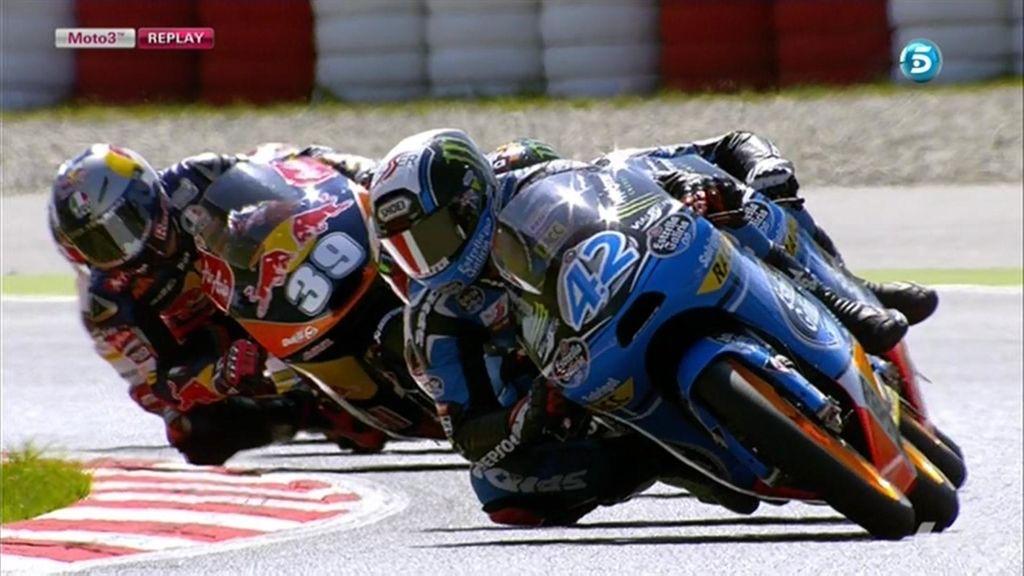La última vuelta de Moto3 en Montmeló