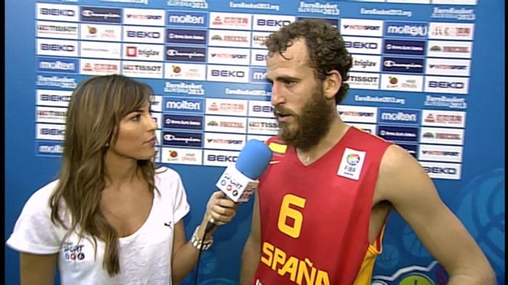 """Sergio Rodríguez: """"Hemos estado muy serios durante todo el partido"""""""