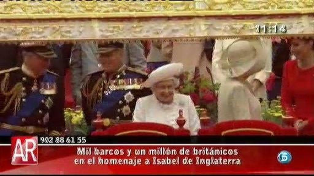 Mil barcos y un millón de británicos en el homenaje a Isabel de Inglaterra