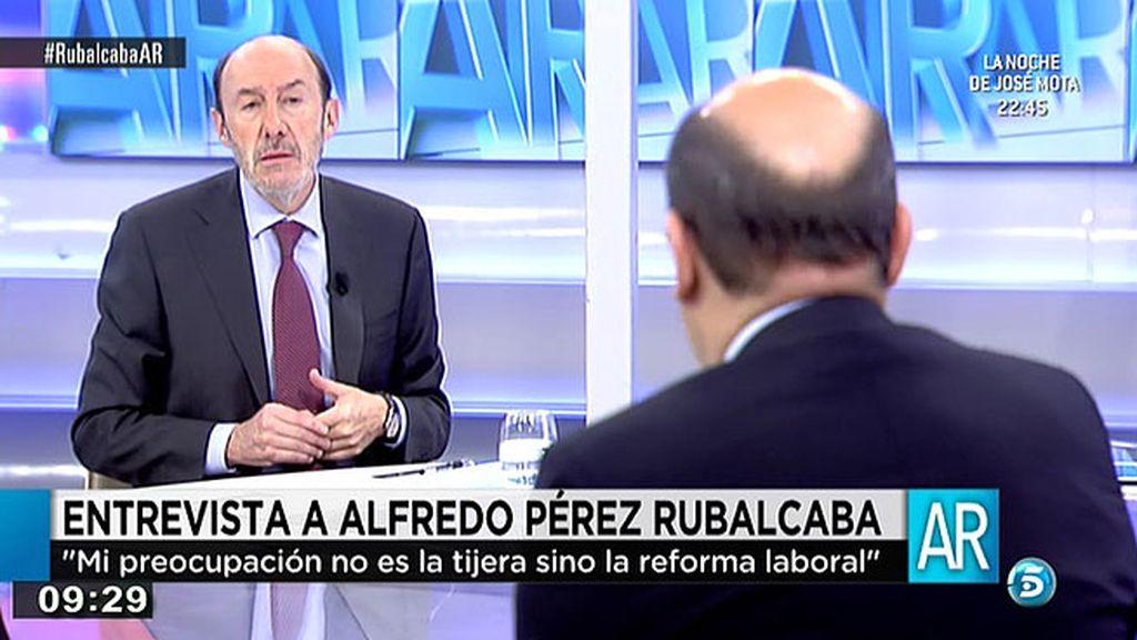La entrevista íntegra a Alfredo Pérez Rubalcaba en 'El programa de Ana Rosa'