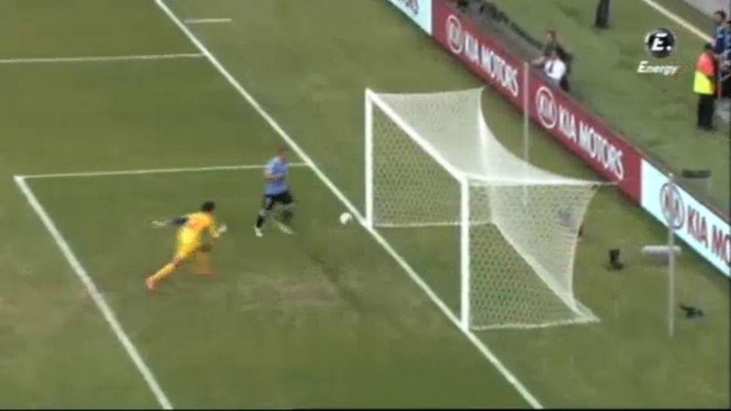 Gol: Uruguay 3-0 Tahití (min.27)