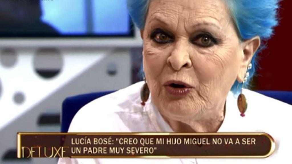 """Lucía Bosé: """"Miguel será un padre perfecto"""""""