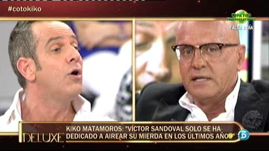 """Kiko Matamoros: """"Víctor Sandoval solo se ha dedicado a airear su mierda"""""""