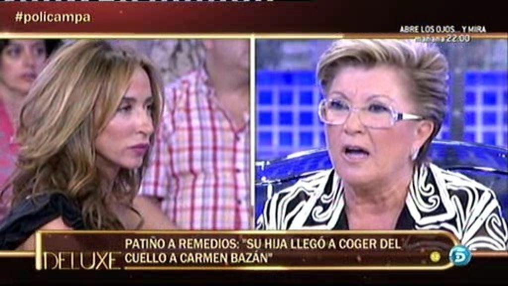 """Patiño, a Remedios Torres: """"Su hija llegó a coger del cuello a Carmen Bazán"""""""