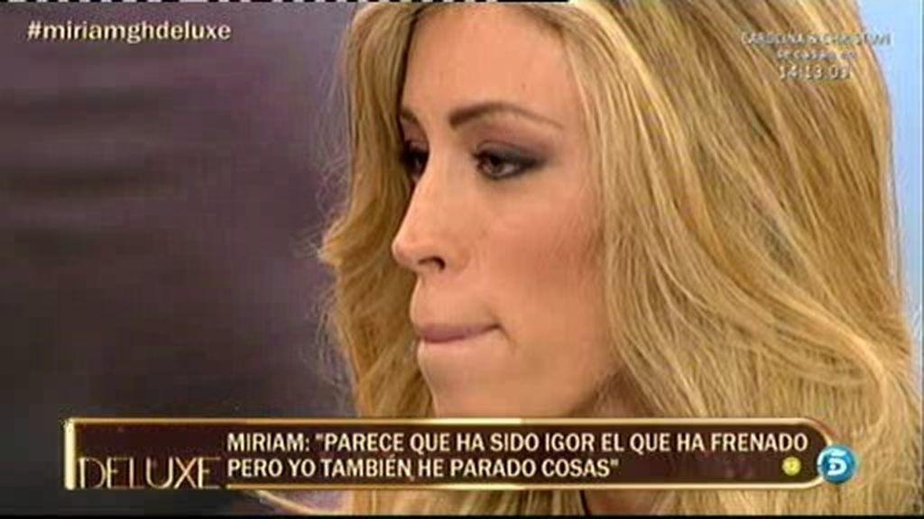 """Miriam: """"Miguel es la persona más importante de mi vida"""""""