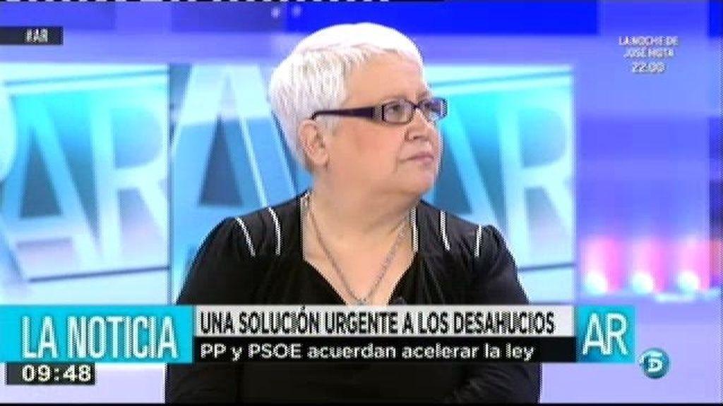"""Feli, plataforma Stop desahucios: """"Antes de llegar al desahucios hay muchas medidas que se pueden tomar"""""""