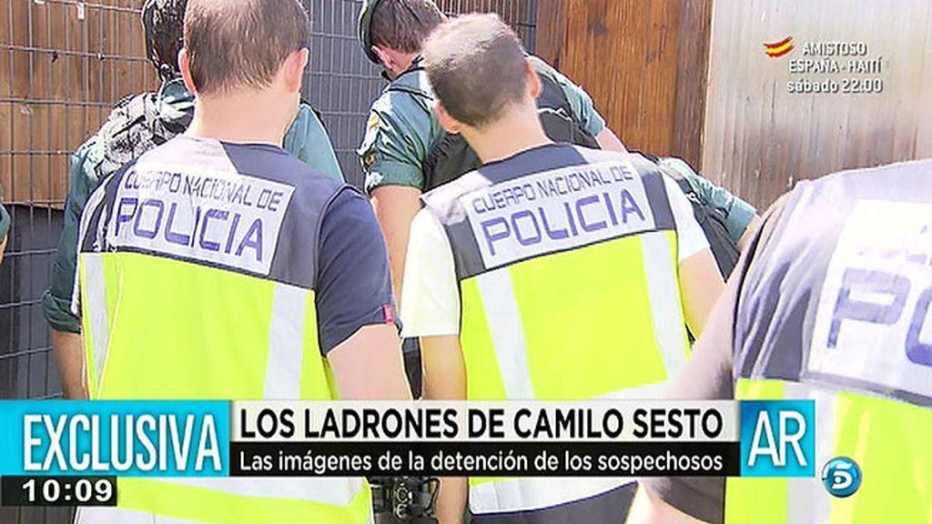 Las imágenes de la detención de los ladrones de la casa de Camilo Sesto, en exclusiva