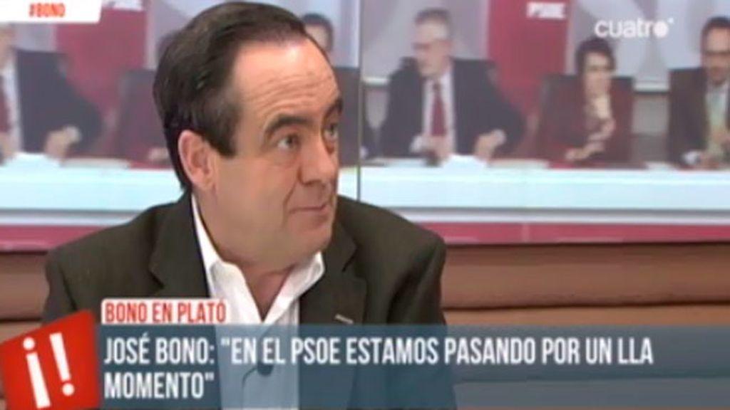 """José Bono: """"En el PSOE estamos pasando por un mal momento"""""""