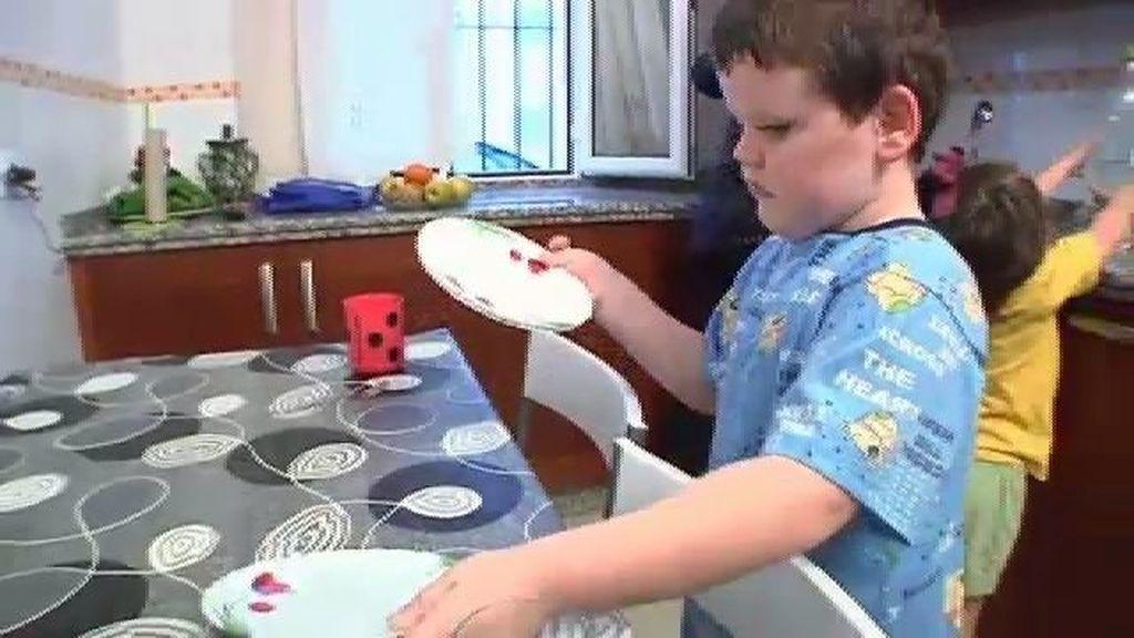 Joel aprende pautas de alimentación