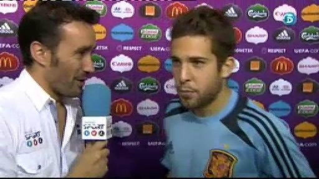 """Jordi Alba: """"Ramos ha callado muchas bocas hoy"""""""