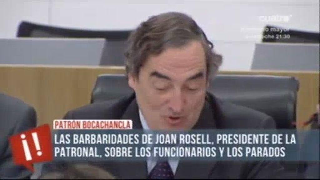 """Rosell: """"La encuesta población activa de los seis millones de parados no es verdad"""""""