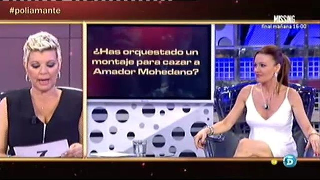 Raquel Moragues orquestó un montaje para conquistar a Amador Mohedano