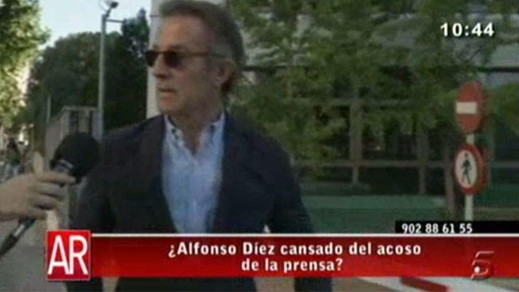 Alfonso Díez, enfadado