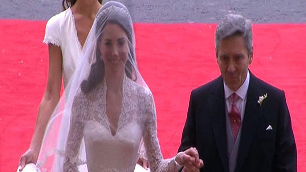 La novia llega a Westminster