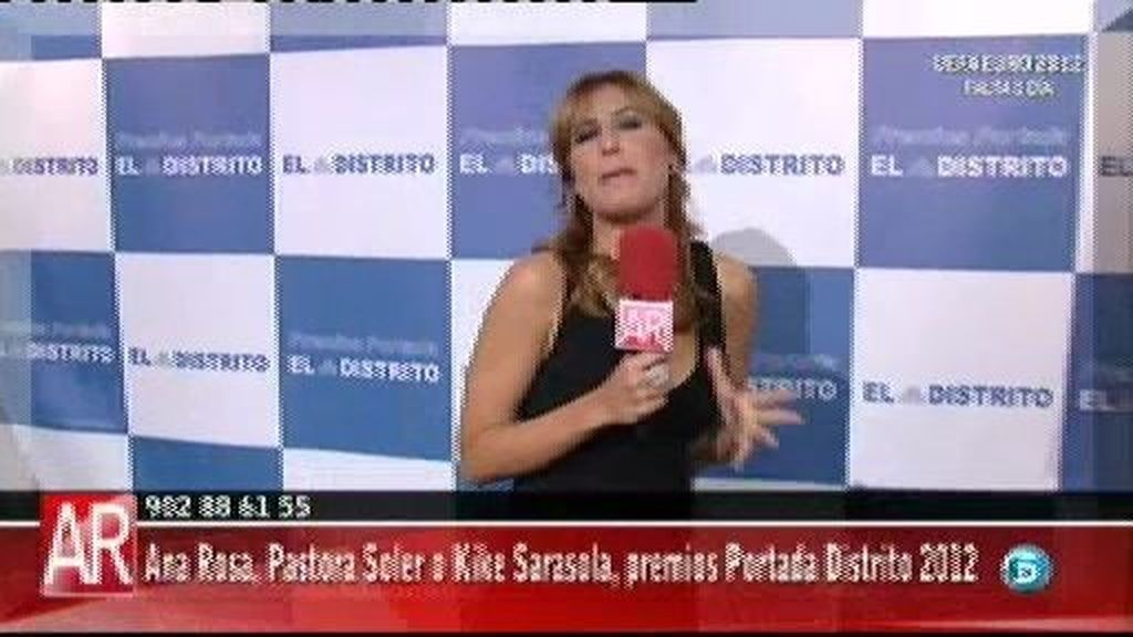Ana Rosa Quintana recibe el premio Portada Distrito a su trayectoria