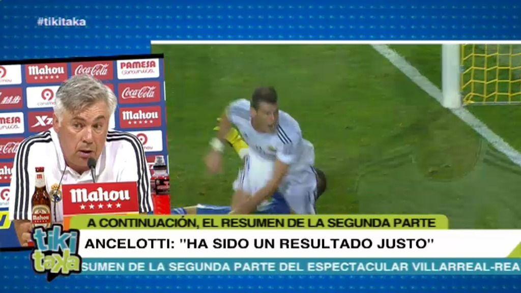 """Ancelotti, sobre el empate con el Villarreal: """"Ha sido un resultado justo"""""""