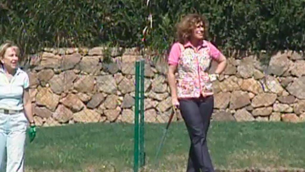 Las clases de golf de la familia Aznar
