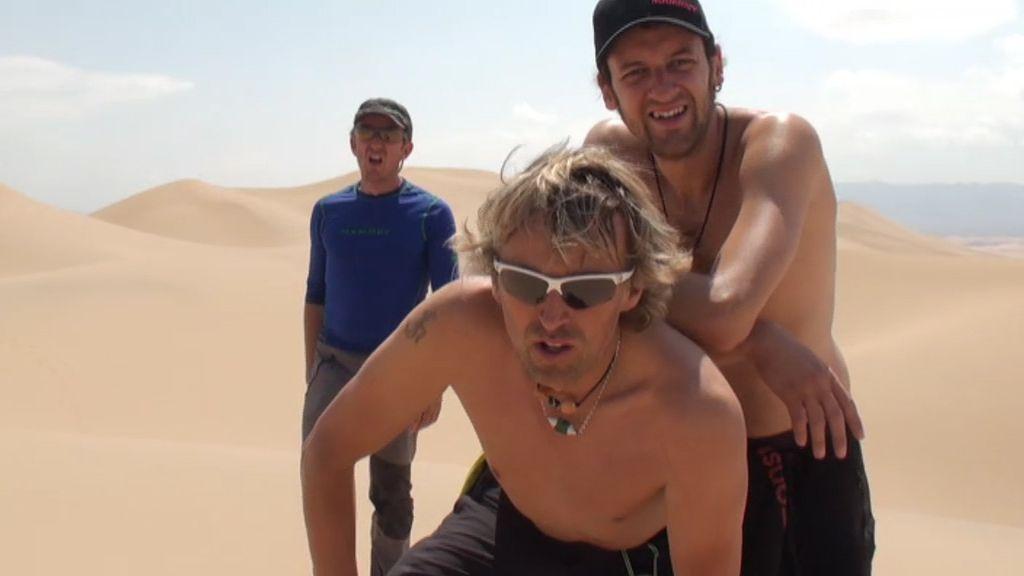 Una duna del Gobi, un duro entrenamiento