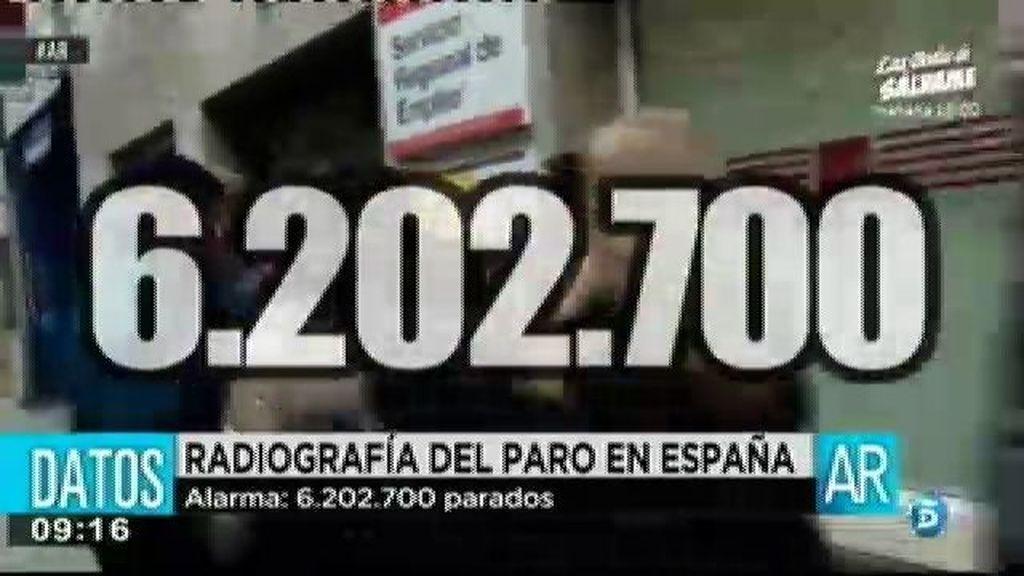 Alarma: 6.202.700 de parados en España