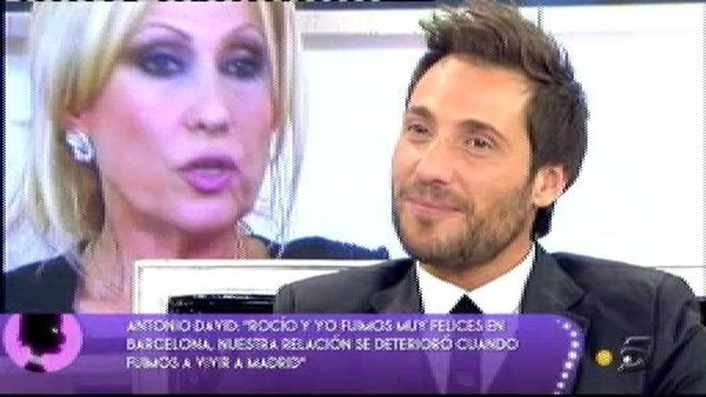"""Rosa Benito a Antonio David: """"Rocío Carrasco jamás te engañó con otro hombre"""""""