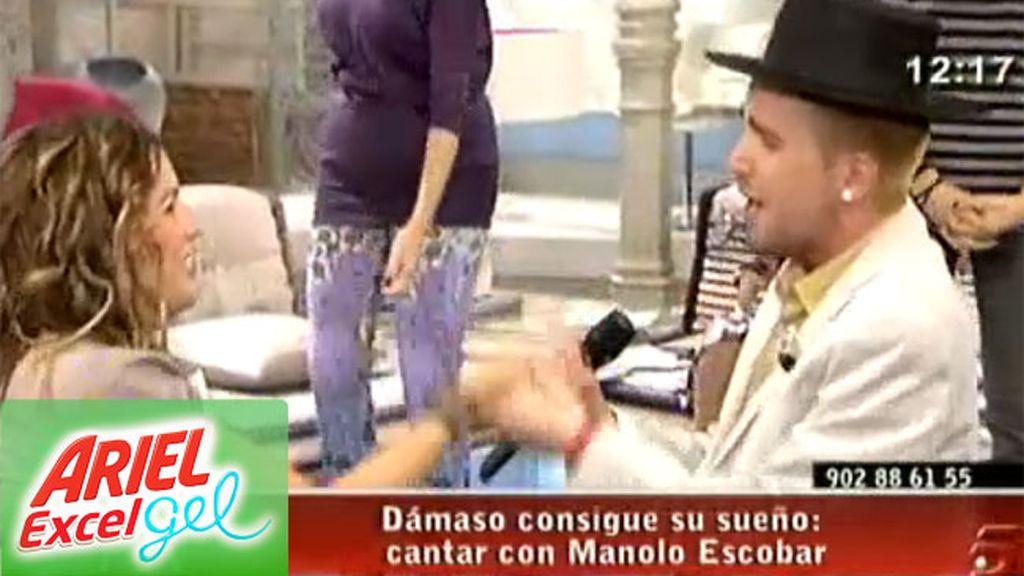 Dámaso canta con Manolo Escobar