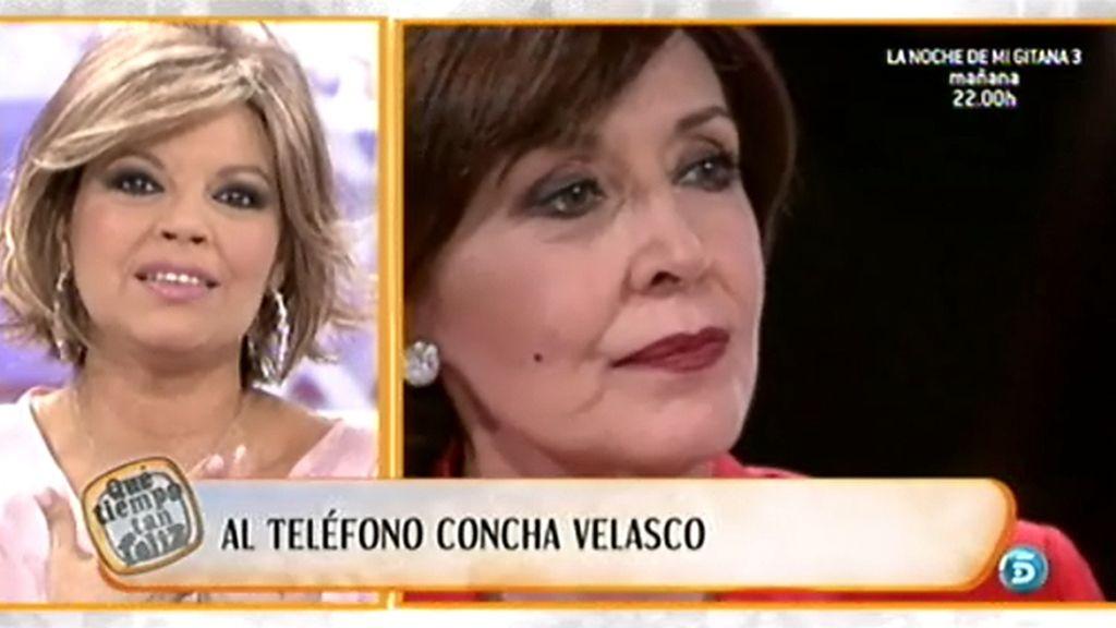 Concha Velasco muy afectada