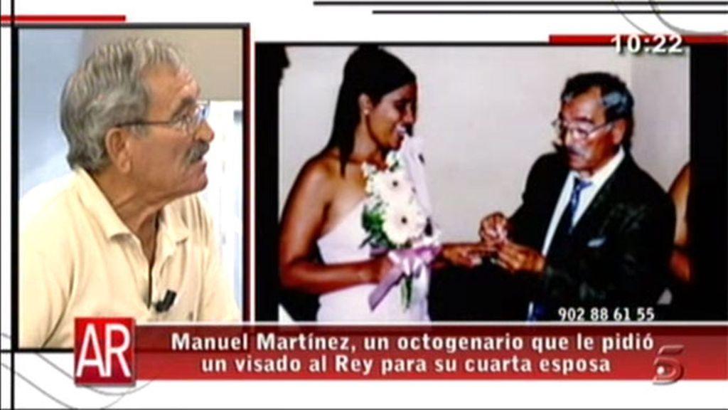 Manuel quiere traer a su mujer