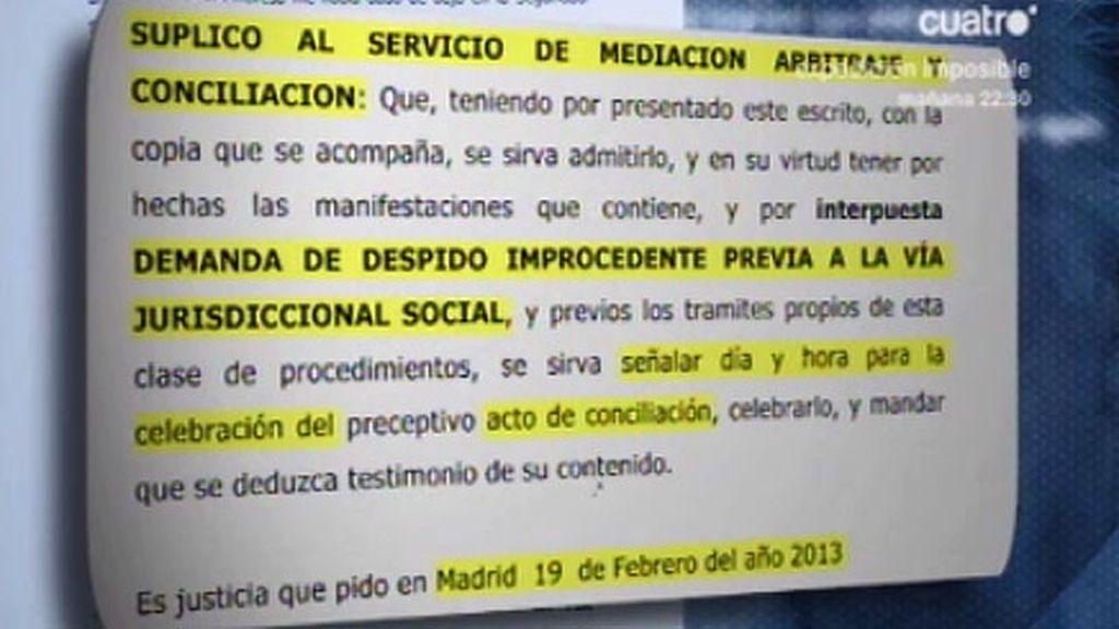 Así es la demanda de despido improcedente de Bárcenas al PP