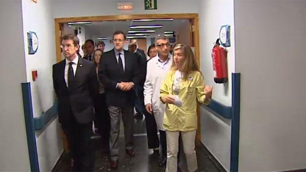Rajoy visita a los heridos del accidente de tren