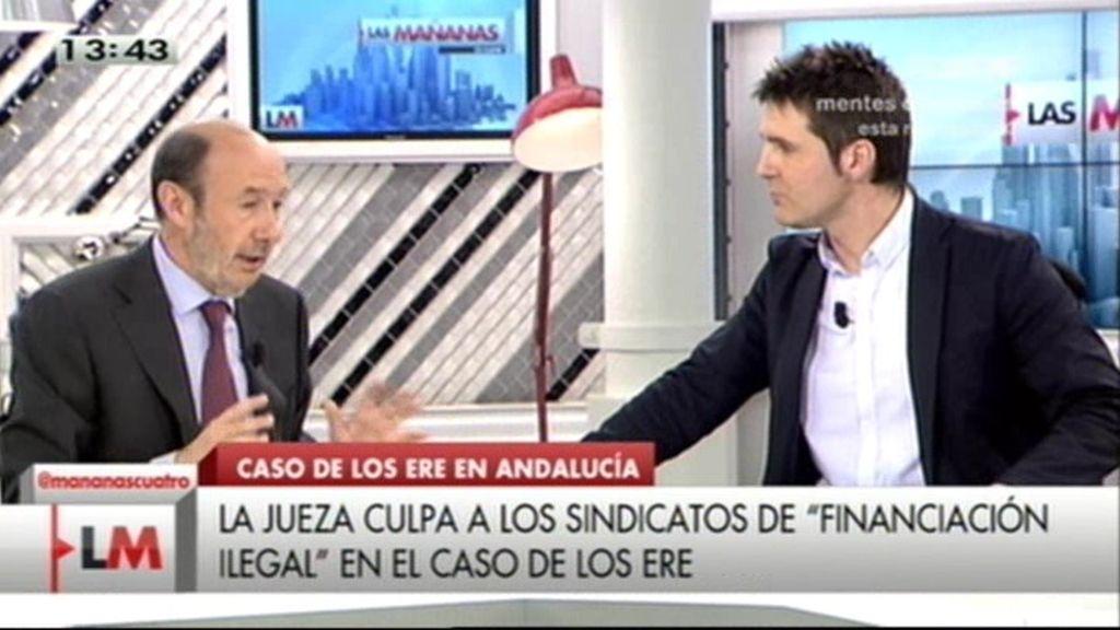 """Rubalcaba, sobre los ERE: """"Quien la hace, la paga"""""""